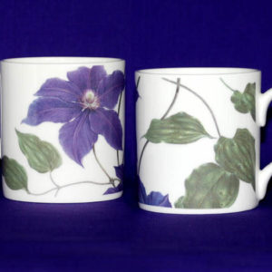 Clematis Kingfisher Bone China Mug