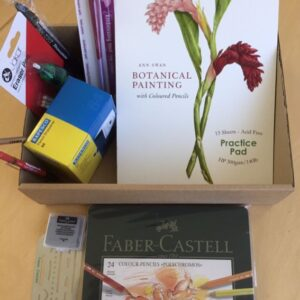 Basic Starter Kit With Ann's book 'Botanical Painting with Coloured Pencils'