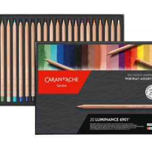 Caran D'Ache Luminance Set of 20 New Portrait Colours